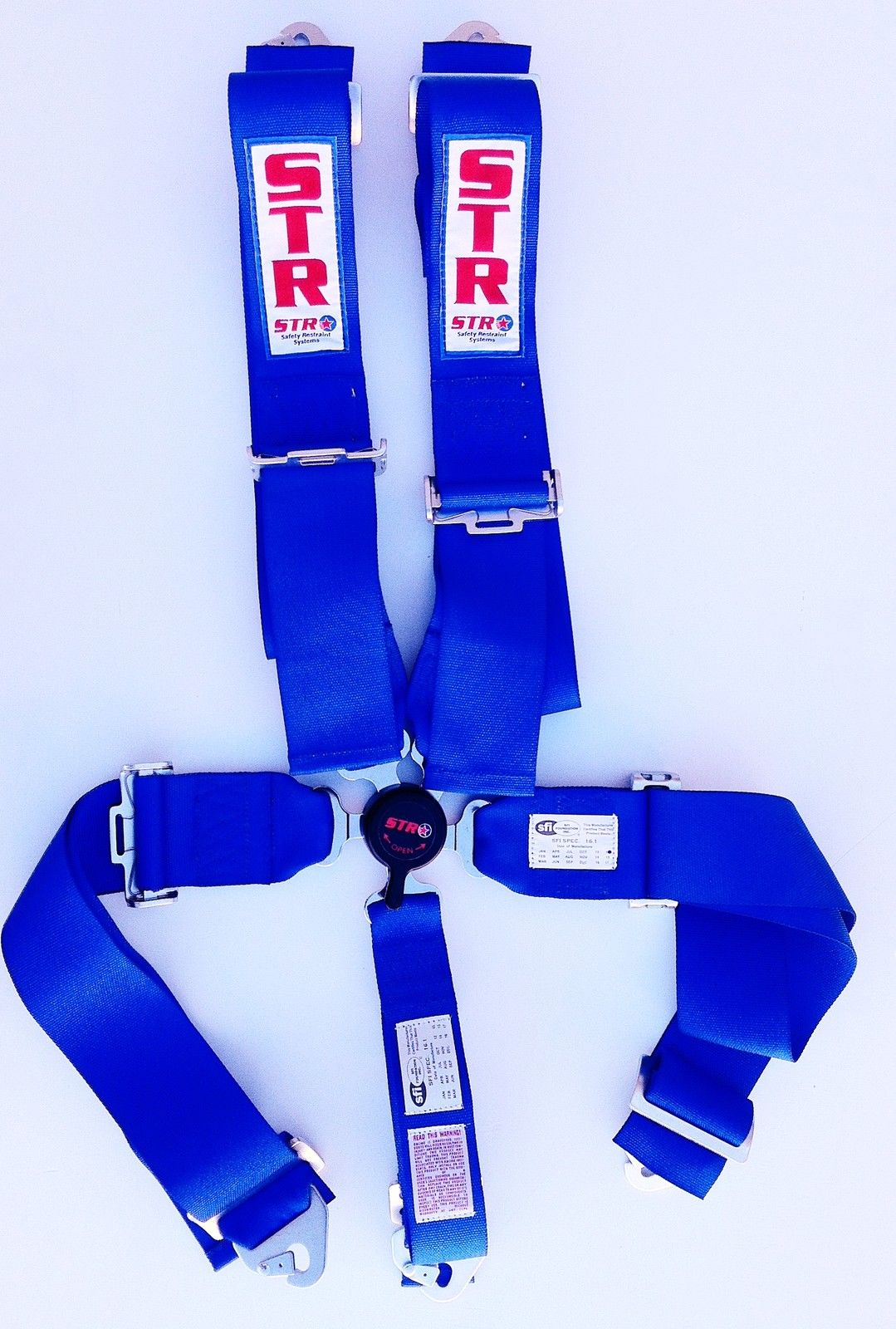 5 Point Harness With Aircraft Buckle Various Colours
